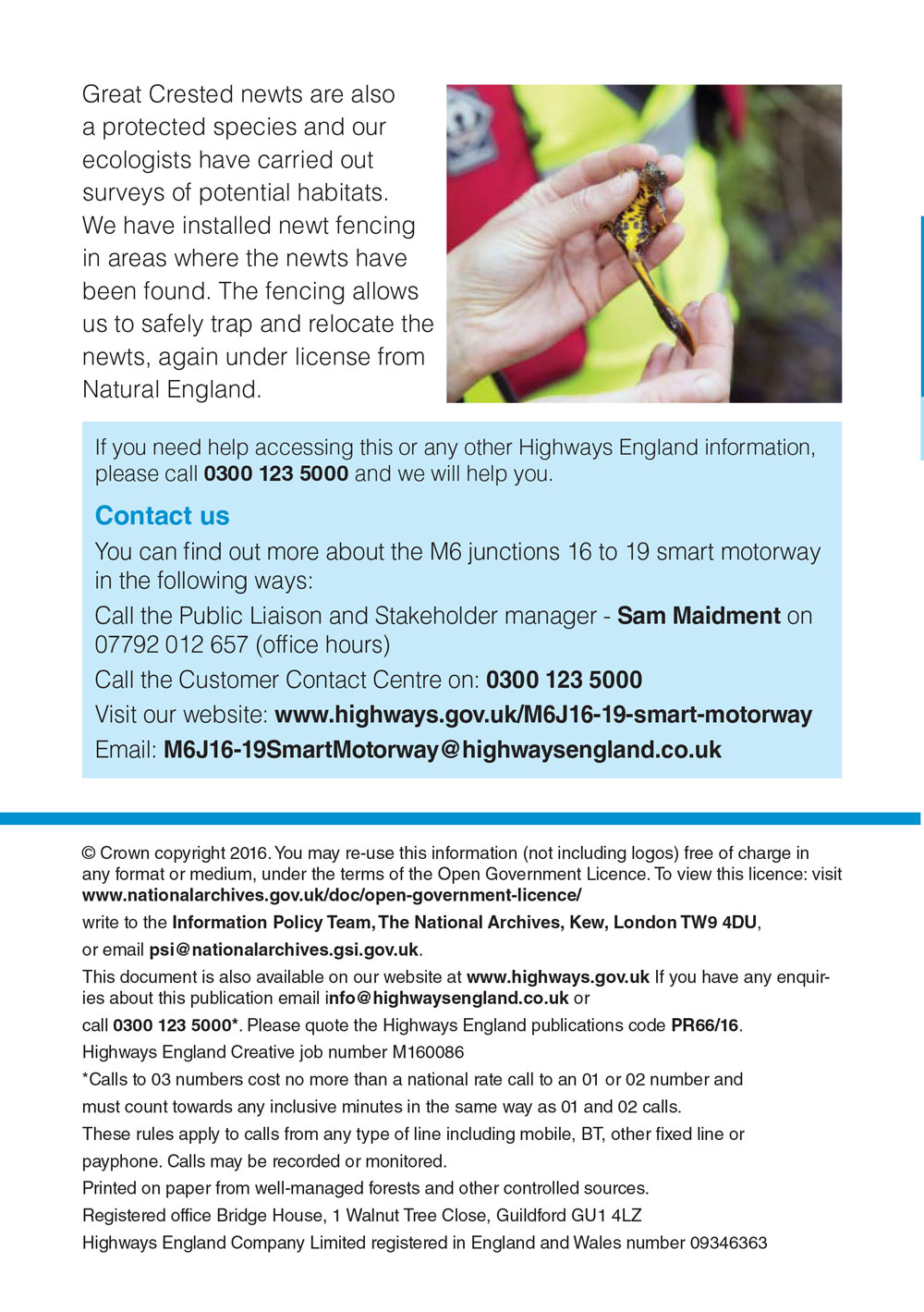 M6 Junction 16-19 Smart Motorway July Newsletter