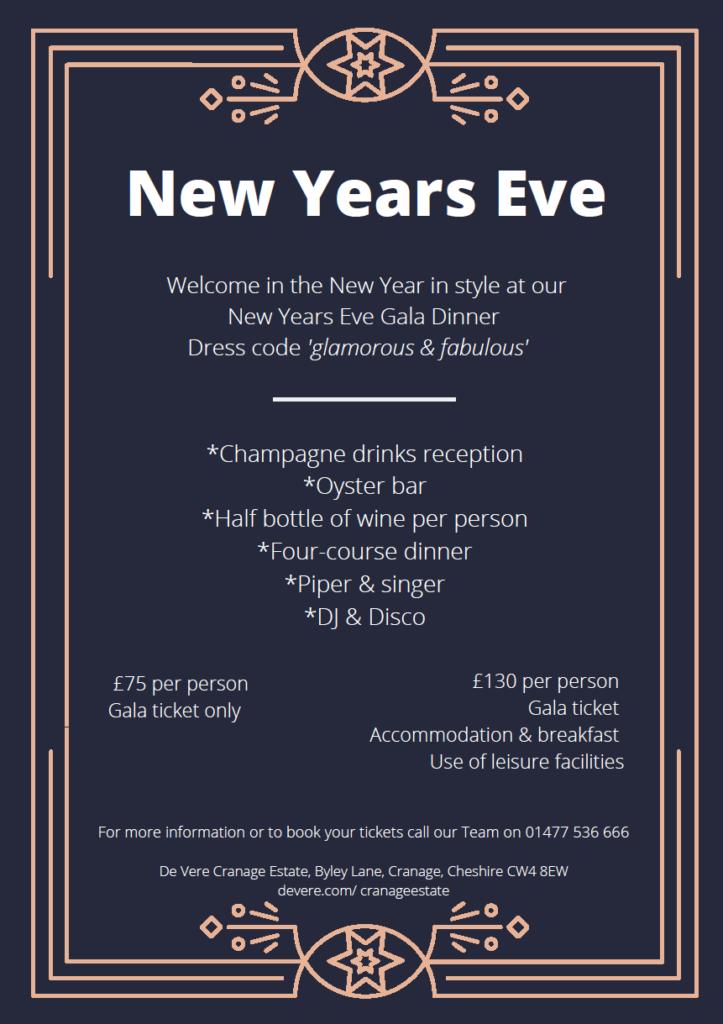 Cranage Estate New Years Eve Gala