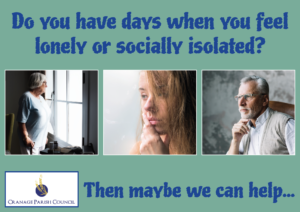 Do you have days when you feel lonely or socially isolated? Then maybe we can help...