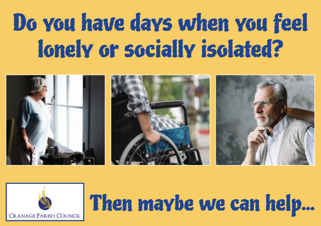Do you have days when you feel lonely or socially isolated? Cranage Hall Cheshire